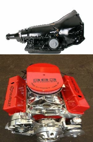 355 th350 motor tranny combo 420hp roller turn key chevy crate engine