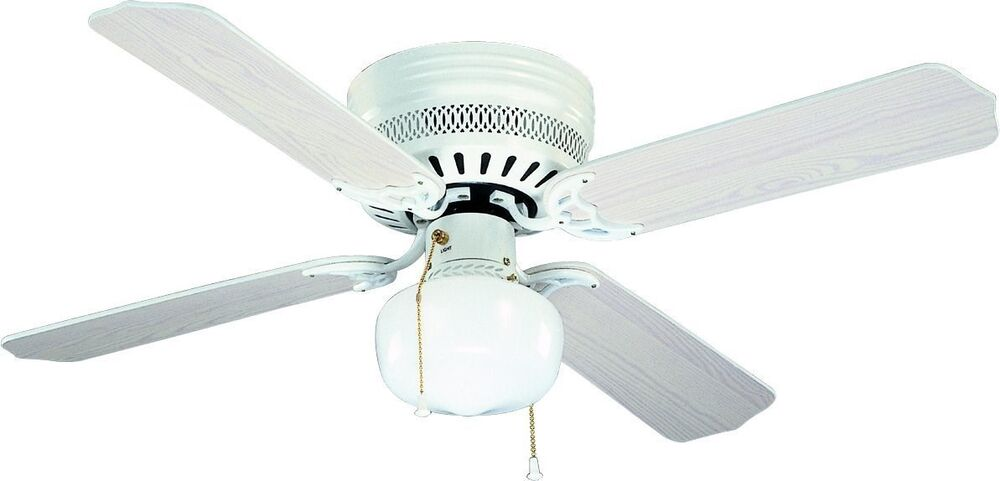 Bala 824038 Four Blade White Ceiling Fan With Light Kit 42 Quot Blades Ebay