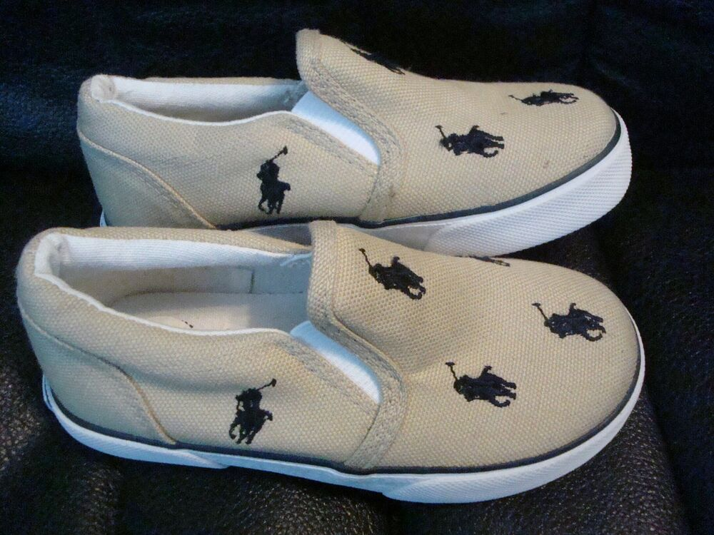 Polo Ralph Lauren Harbour Canvas Boys Toddler Slip On ...
