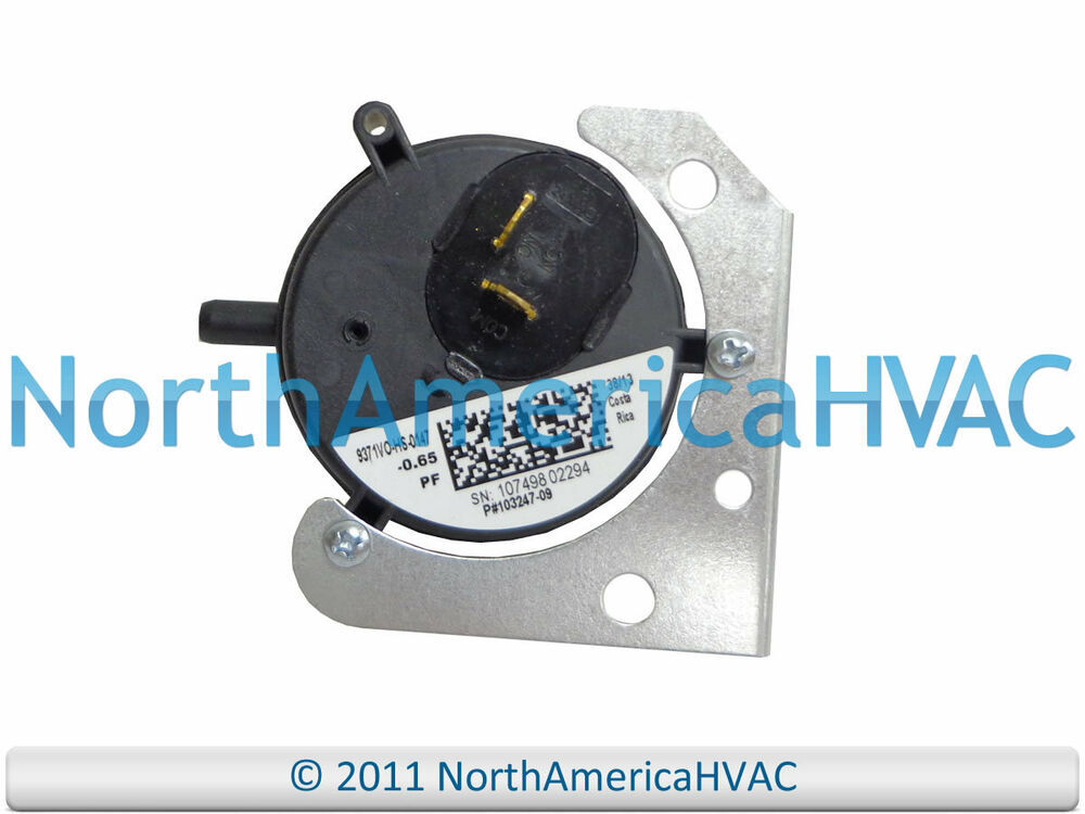 lennox armstrong ducane furnace air pressure switch 10324709 lennox armstrong ducane furnace air pressure switch 10324709 103247 09 0 65 034 wc