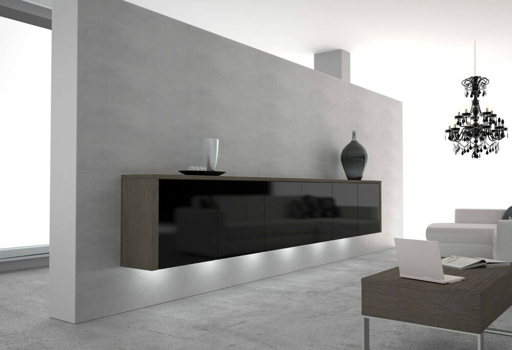 luxus sideboard h ngesideboard in 12 farben erh ltlich designer wohnzimmer m bel ebay. Black Bedroom Furniture Sets. Home Design Ideas