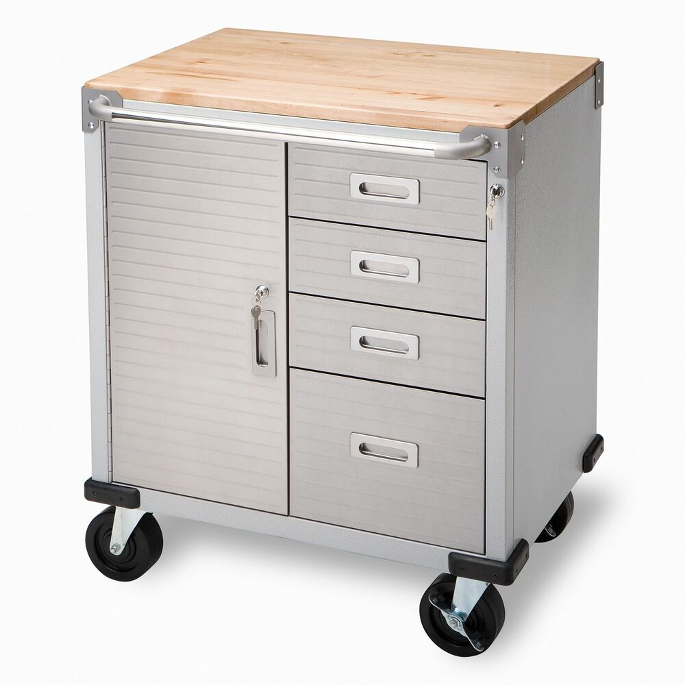 Garage ball bearing drawers rolling storage cabinet tool for Cupboard and drawers