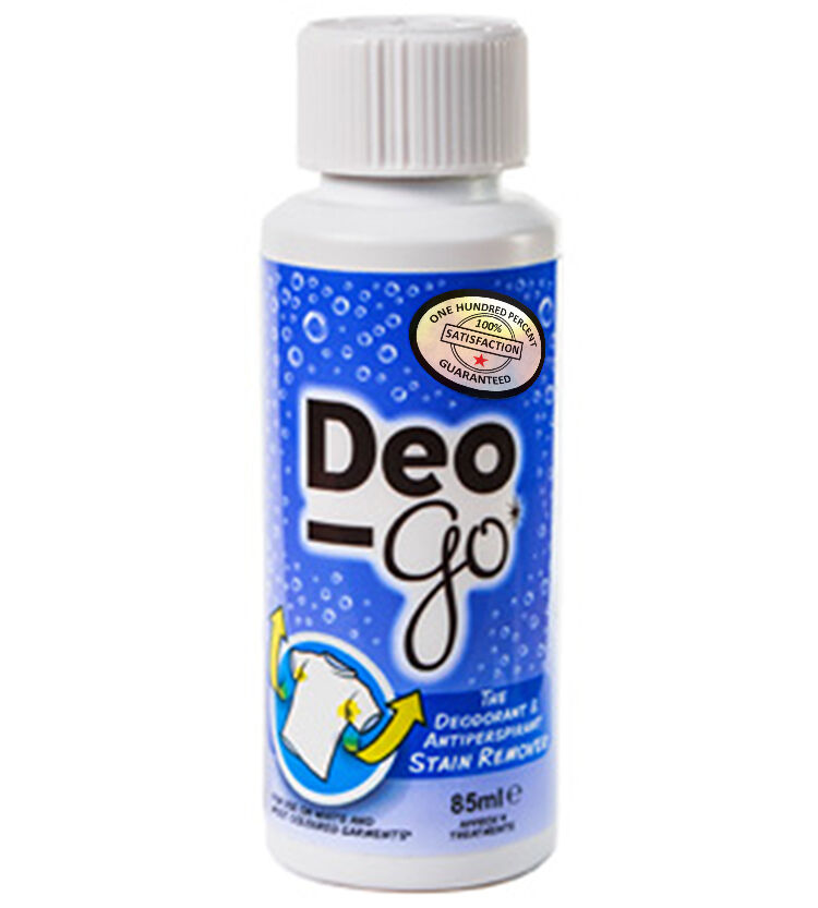 Deo go deodorant antiperspirant stain remover 85ml ebay for Remove deodorant stains from shirt armpits