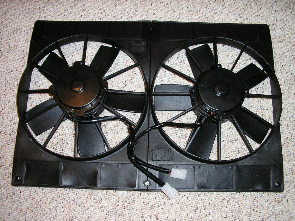 Electric Radiator Fan : Cfm dual quot electric radiator cooling fans with flow