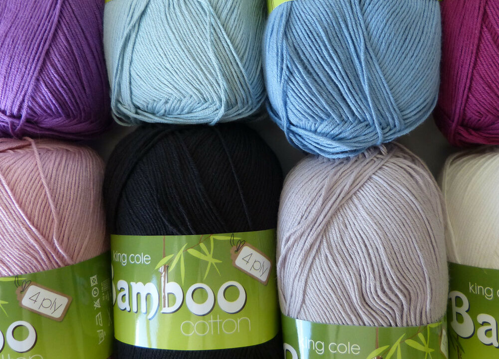 Knitting Patterns For King Cole Bamboo Cotton : King Cole Bamboo Cotton 4ply 100g VARIOUS SHADES soft light summer yarn eBay
