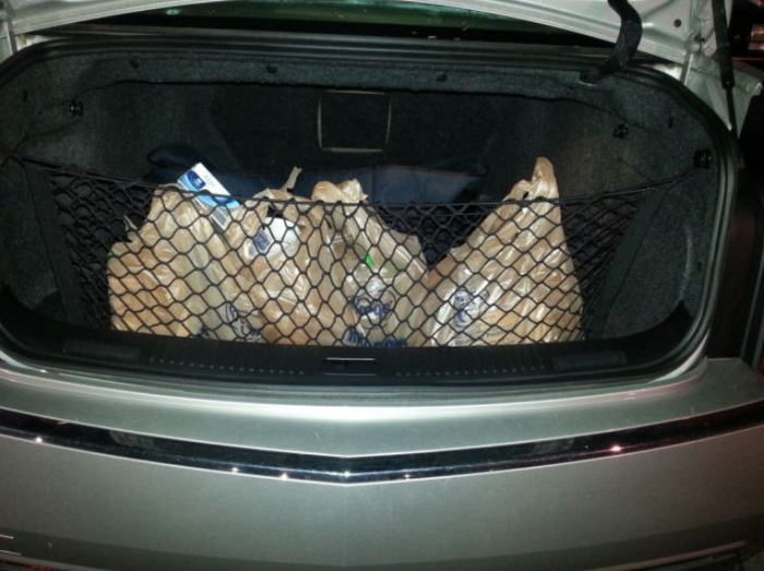 Envelope style trunk cargo net for cadillac cts 2004 - Cadillac cts interior accessories ...