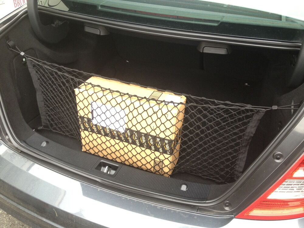 Envelope trunk cargo net for mercedes benz coupe sedan for Mercedes benz car trunk organizer