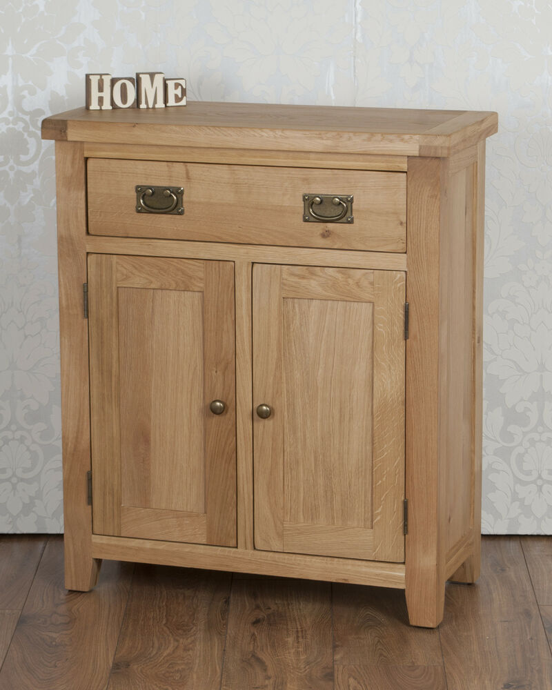 Chunky solid oak harrogate natural slim 2 door drawer for 1 door cupboard