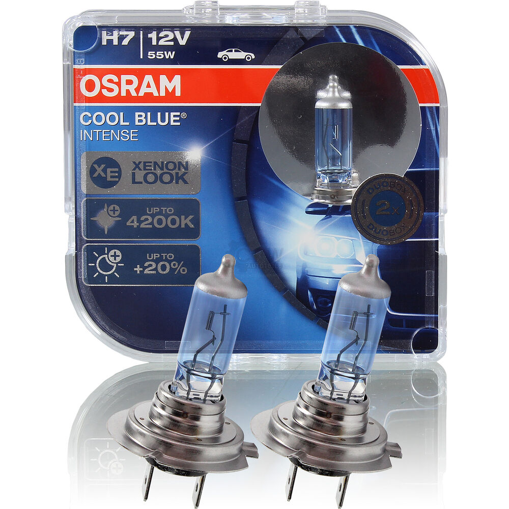 osram cool blue intense xenon look h7 55w 12v duo box. Black Bedroom Furniture Sets. Home Design Ideas