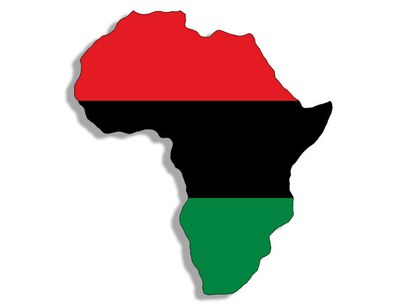 3x5 inch AFRICA Shaped Pan African Flag Sticker - decal black history continent | eBay