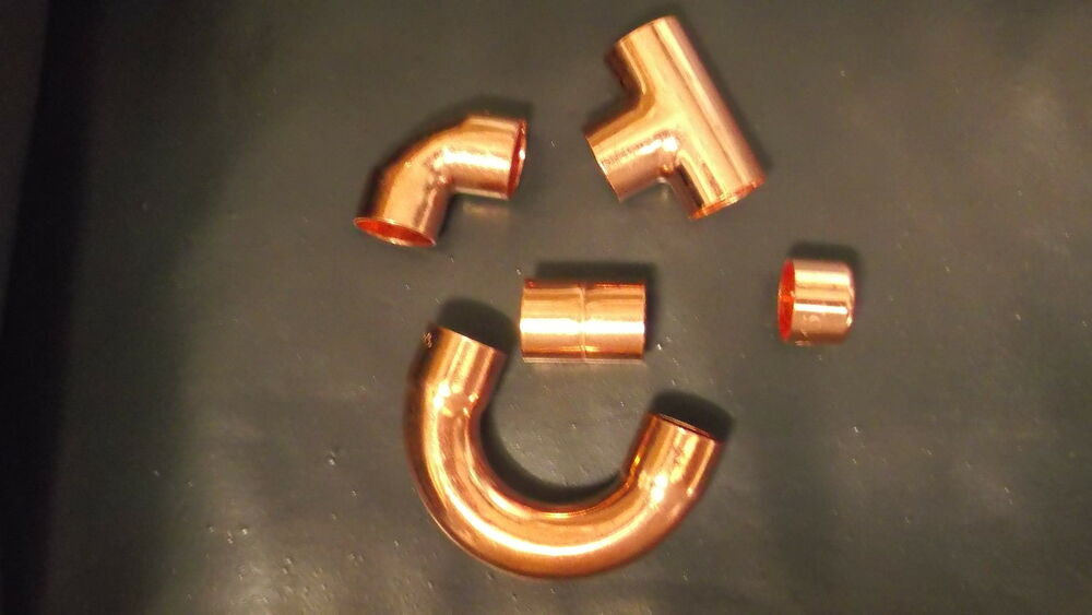 8mm 10mm 15mm 22mm End Feed Fittings Copper Pipe Tube