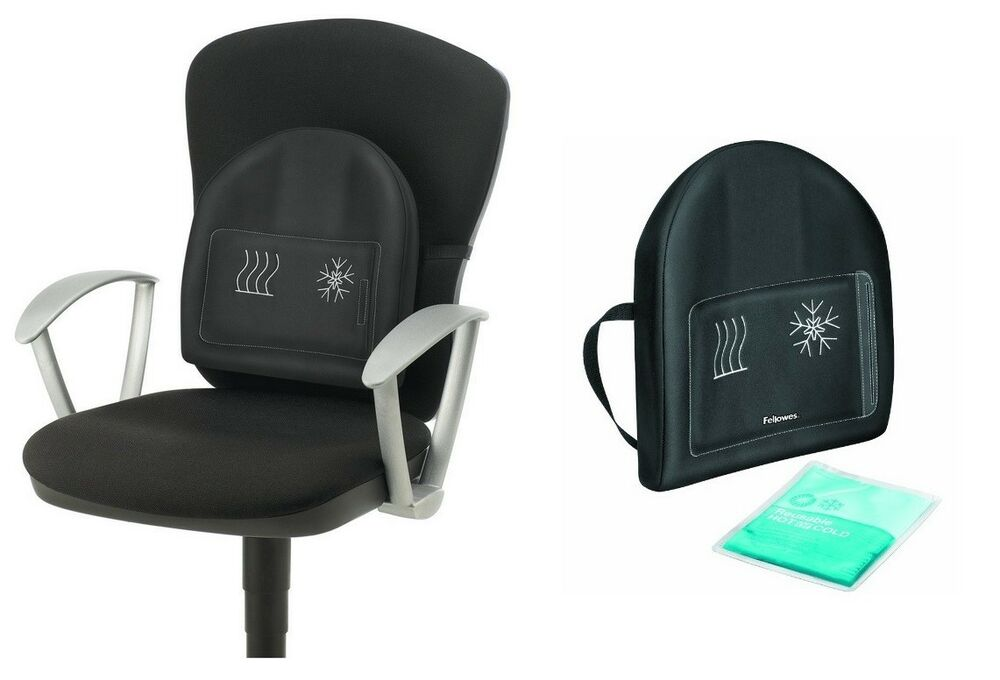 lumbar heat and soothe back support office chair back