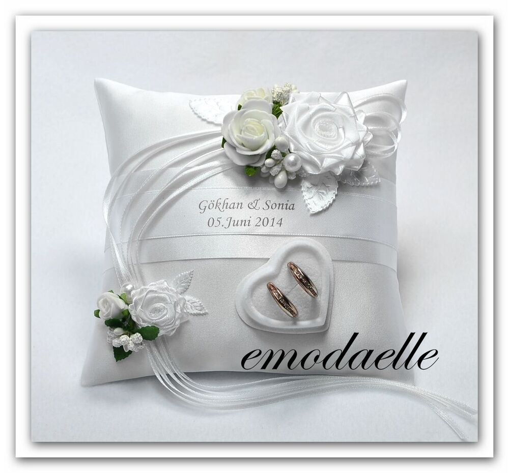 Color personalized wedding ring cushion pillow with