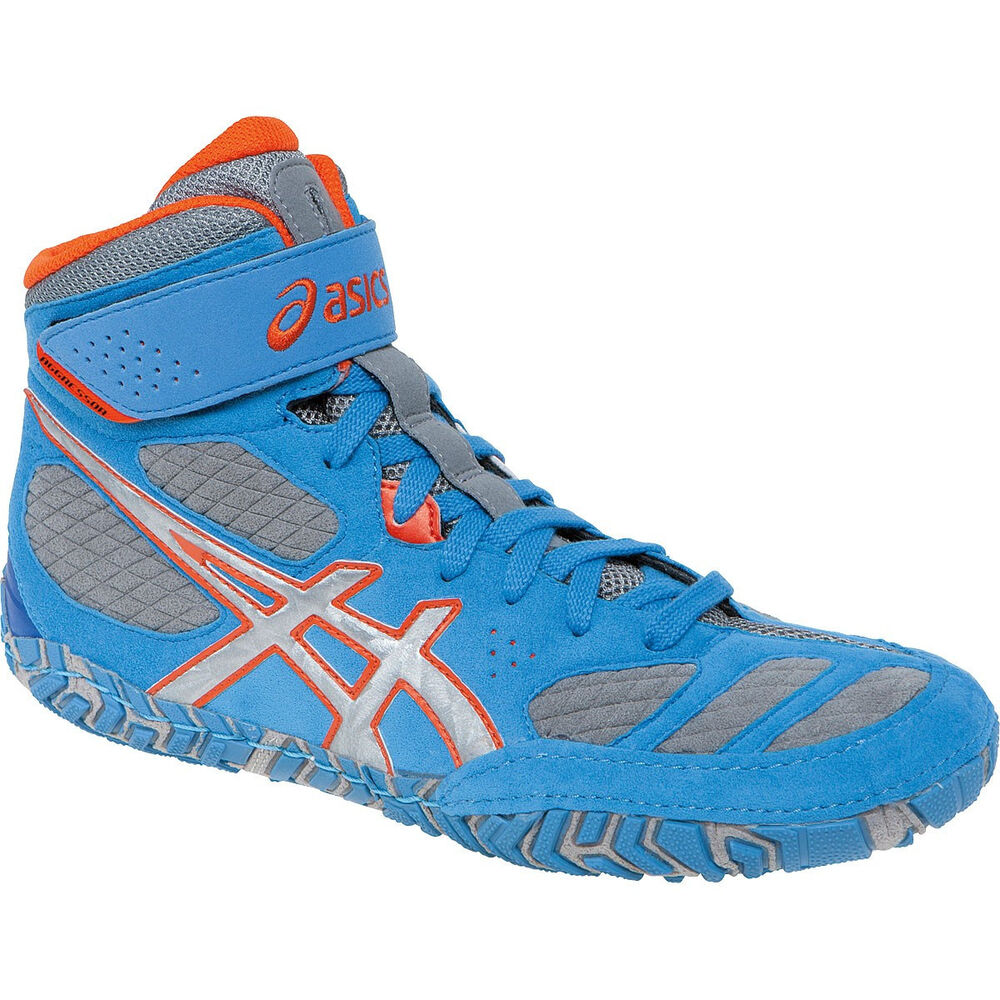 NEW Asics Aggressor 2 Wrestling Shoes Dusty Blue/Silver ...
