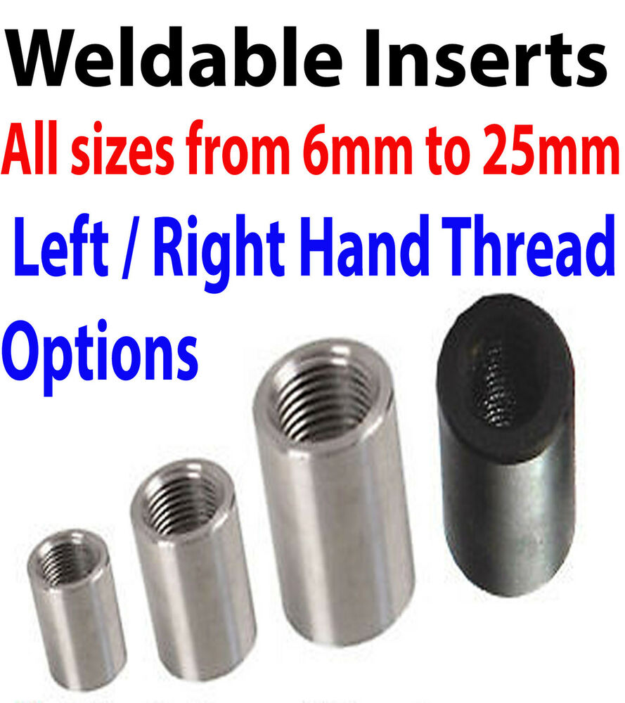 Threaded insert tube adaptor rose joint adapter pipe