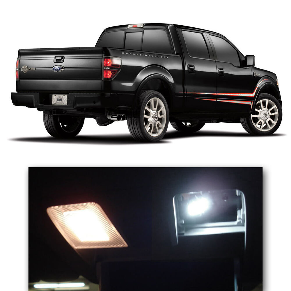 9 Pieces Xenon White Smd Led Interior Lights Package Kit For 2009 2014 Ford F150 Ebay