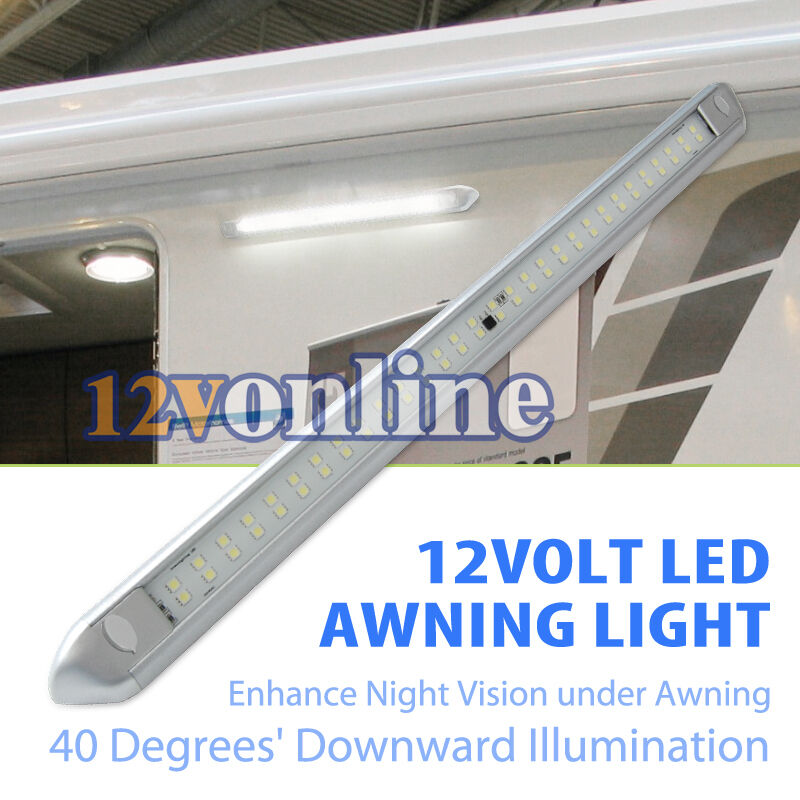 12v Led Under Cabinet Counter Strip Light Rv Camper: 11W 12V LED Awning Light RV Caravan Trailer Porch