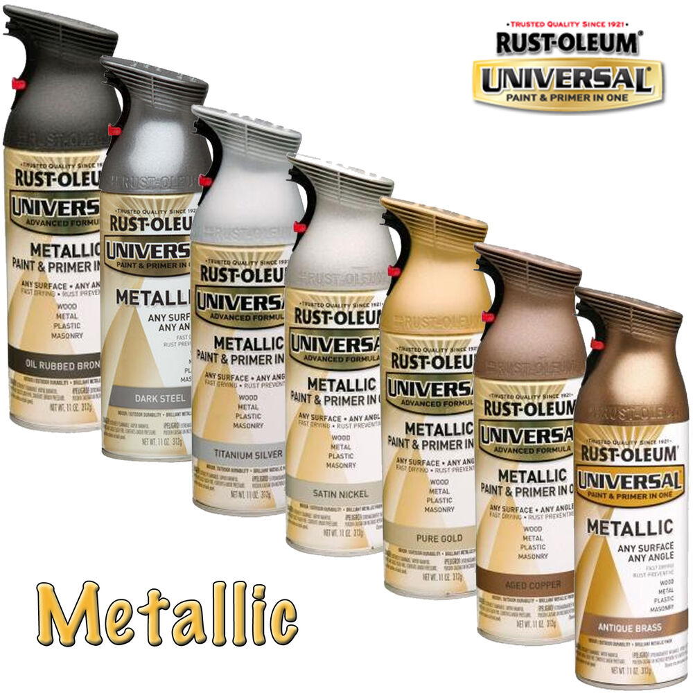 Rust Oleum Metallic Spray Paint Brass Copper Gold Silver Bronze Steel Nickel Ebay