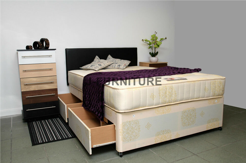 Double Divan Bed Any Mattress Storage Headboard 100 Cheapest On Ebay Ebay
