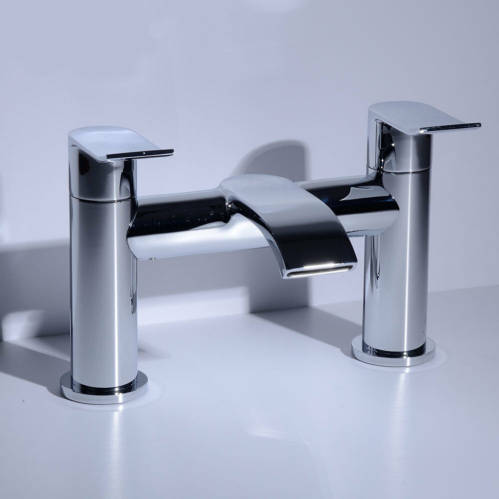 Levers Water Flow : Brass lever handles chrome bath tub filler water flow