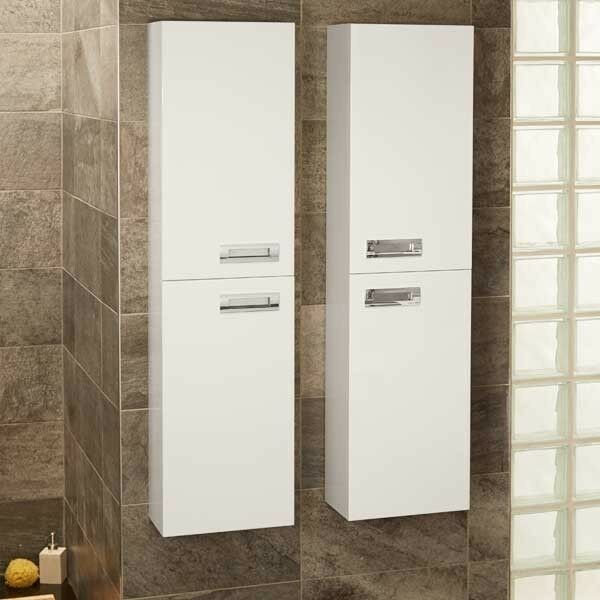 bathroom storage furniture wall mounted cabinet drawer compact white