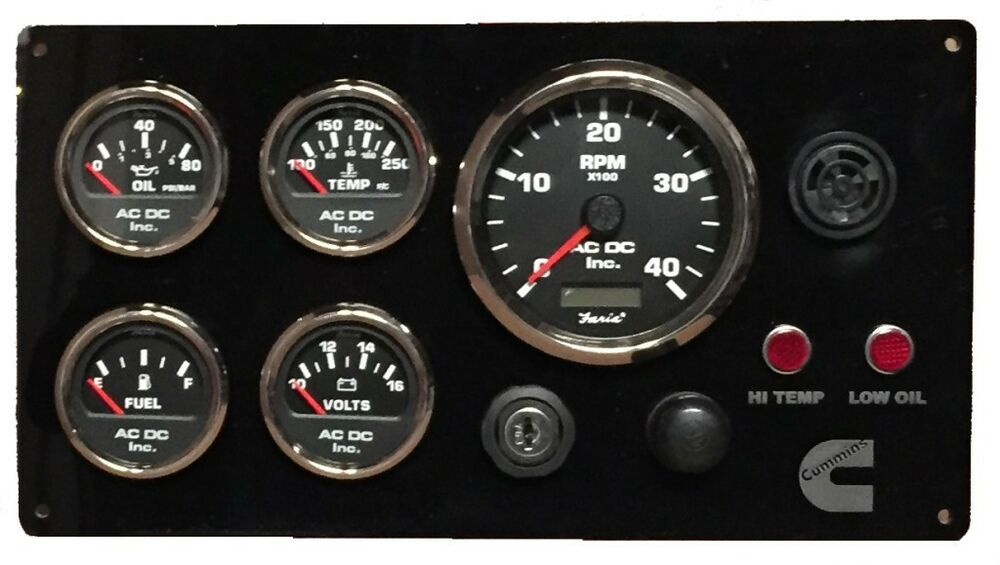 cummins marine instrument cluster custom design  with