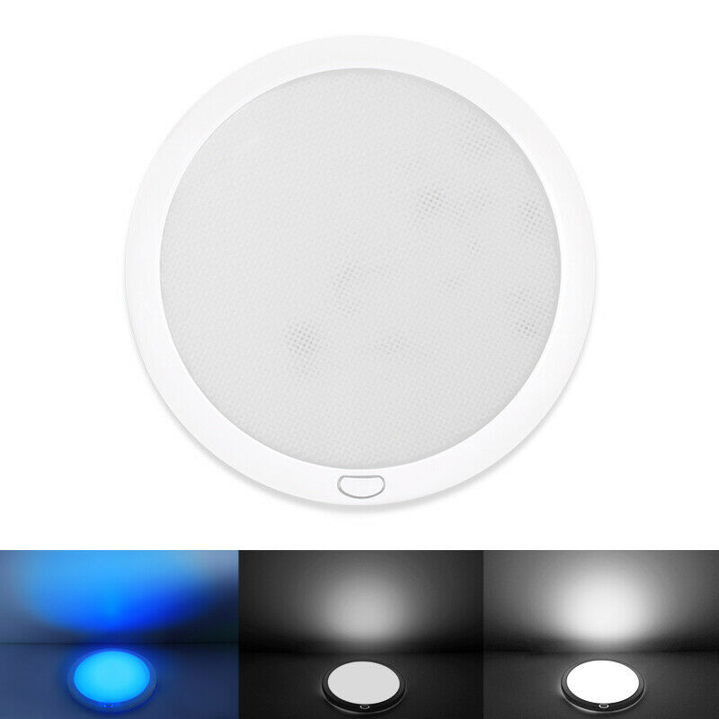 "12V 5"" LED Bright Panel Dome Ceiling Light RV Trailer"