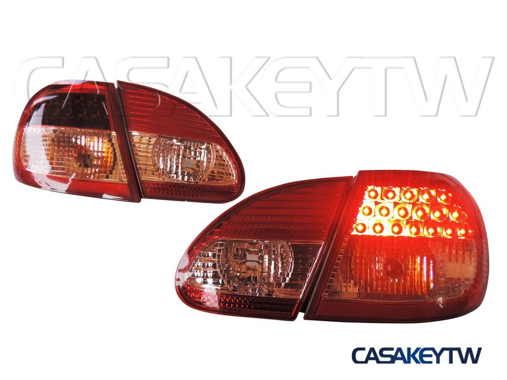 new style jdm led tail lights lamps red clear for 03 07. Black Bedroom Furniture Sets. Home Design Ideas