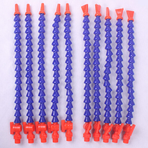 Flexible plastic water oil coolant pipe hose tap flat