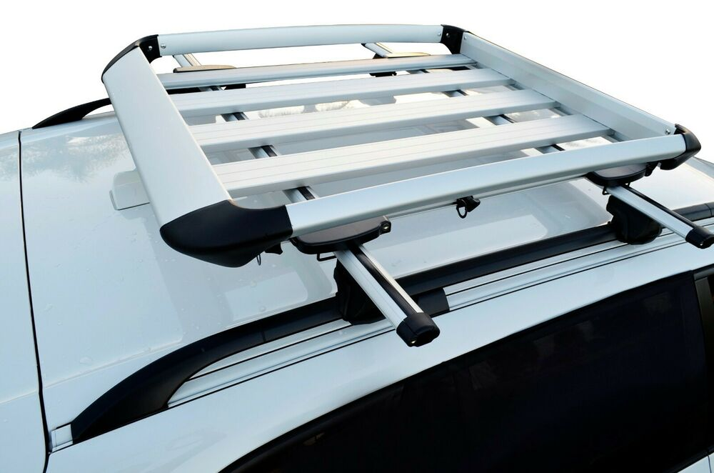 audi q5 q7 alloy aero roof rack box luggage basket storage. Black Bedroom Furniture Sets. Home Design Ideas