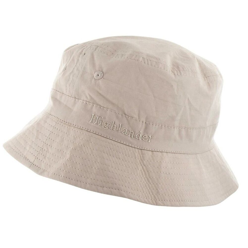White Bucket Hat Cotton Mens Sizes Sun Cap Travel Hike