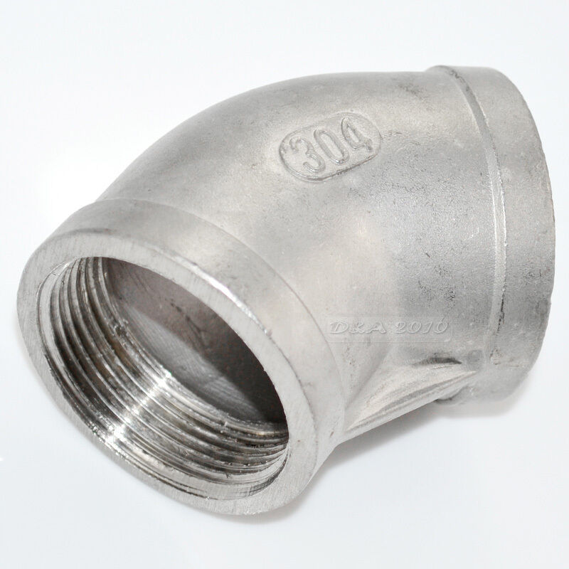 Steel Pipe Couplers : Degree elbow quot female fitting stainless steel