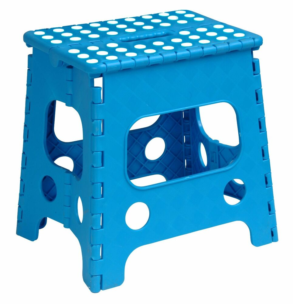 Folding Plastic Step Stool 13 Inch Blue 255b Superior
