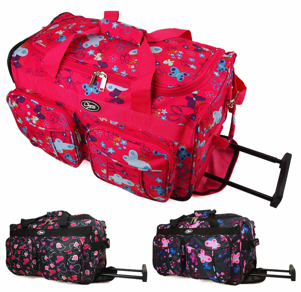 high quality small 20 womens girls cabin hand luggage wheeled travel bag case ebay. Black Bedroom Furniture Sets. Home Design Ideas