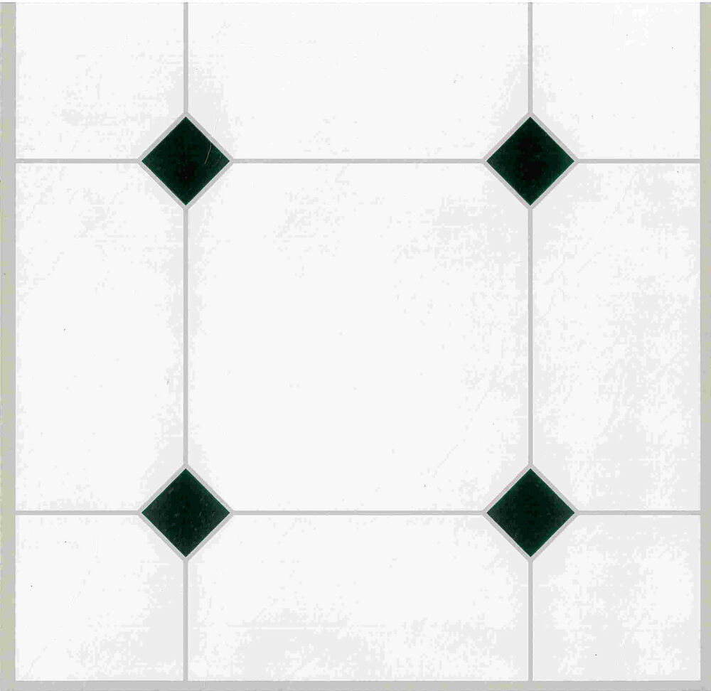 88 x vinyl floor tiles self adhesive kitchen stick bnib white tiles effect ebay. Black Bedroom Furniture Sets. Home Design Ideas