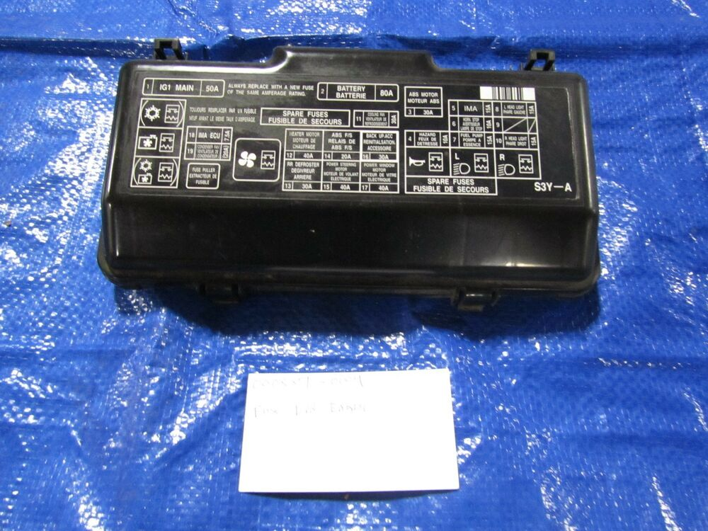 Honda Crv Fuse Box Cover : Honda insight fuse box cover engine