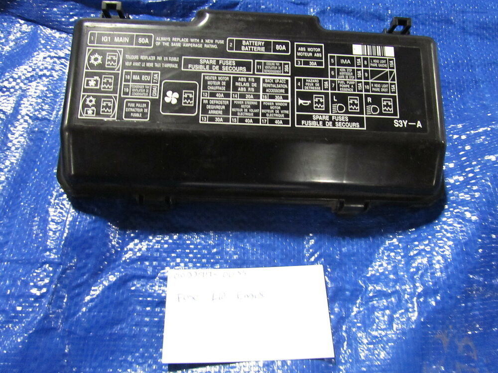 2006 Honda Civic Under Hood Fuse Box : Honda insight used fuse box cover under hood w