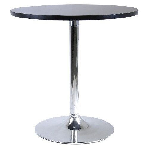 Spectrum Round Dining Table with Metal Base Wood Black  : s l1000 from www.ebay.com size 500 x 500 jpeg 12kB