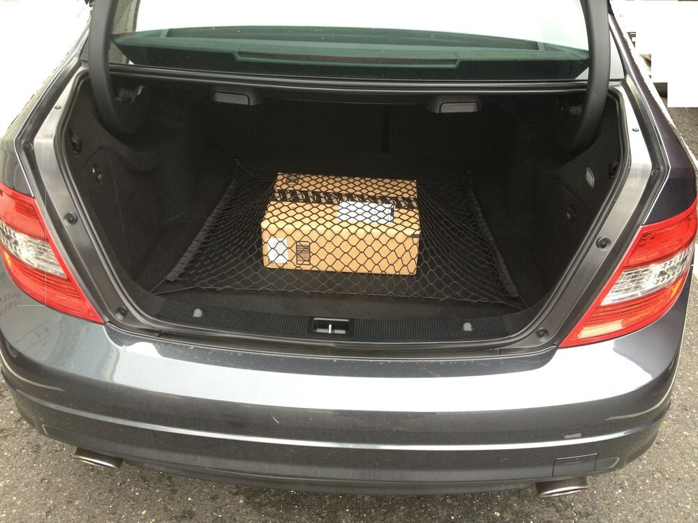 Floor cargo net for mercedes benz coupe sedan c250 c300 for Mercedes benz car trunk organizer