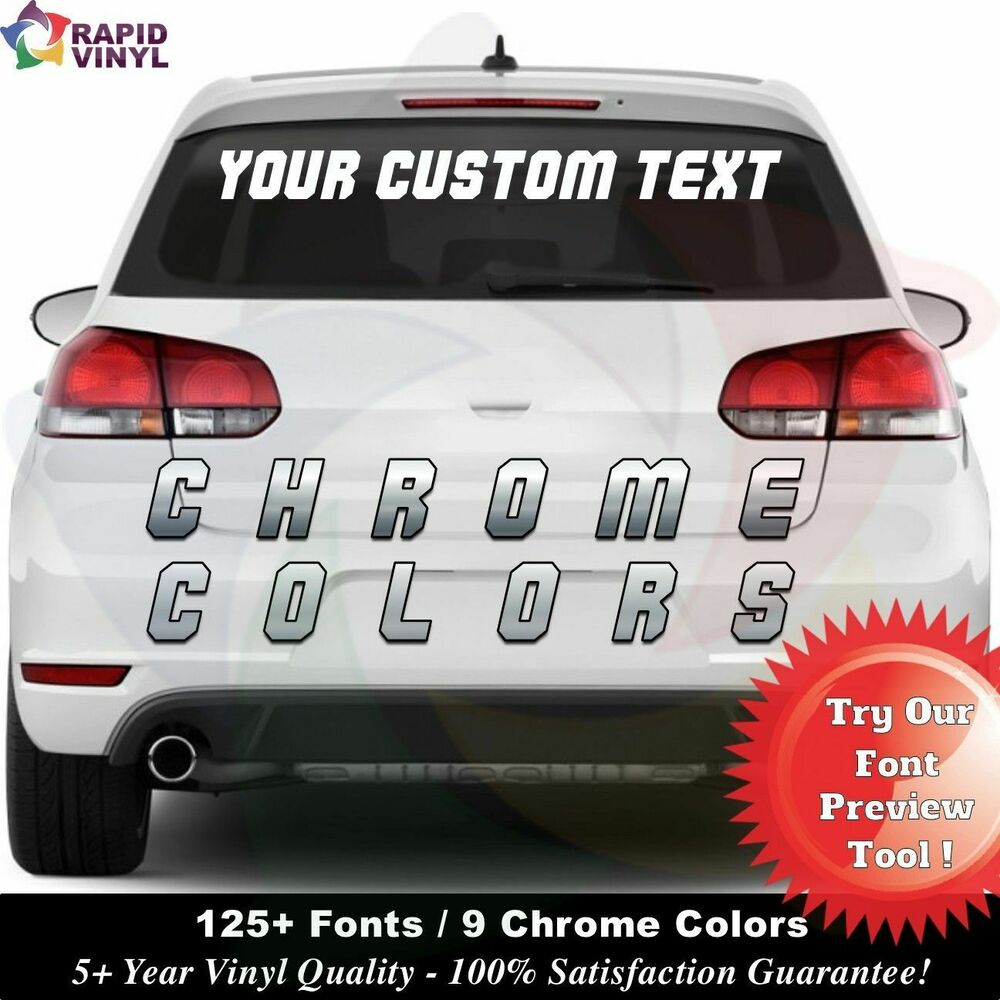 Details about chrome personalized custom 4 x 30 window decal vinyl text lettering boat car