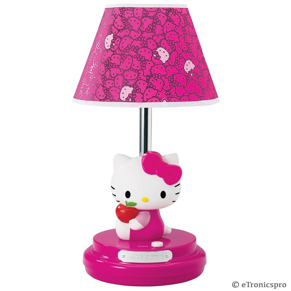 new hello kitty kt3095am table desk girl 39 s bedroom decor lamp magenta. Black Bedroom Furniture Sets. Home Design Ideas
