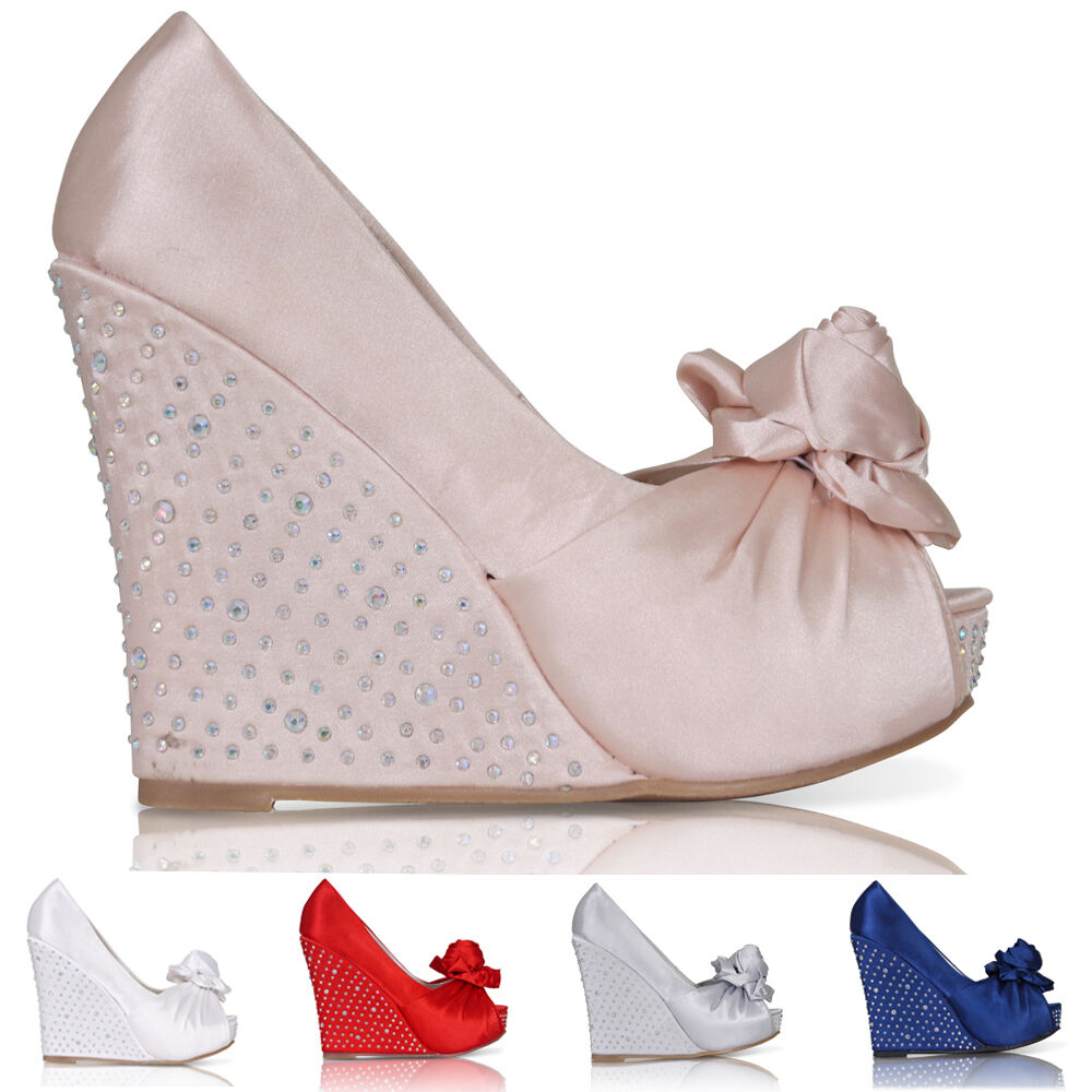 new womens wedding platform wedge bridal sandals