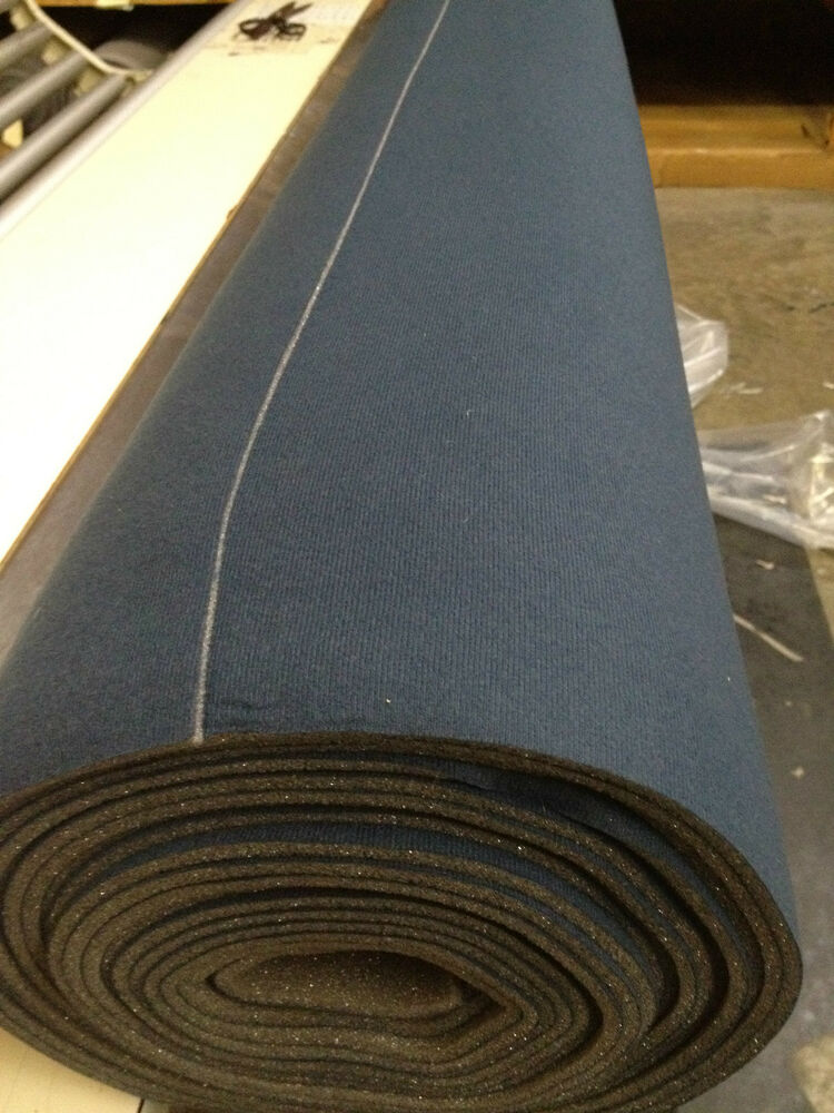 2 yards auto headliner upholstery fabric with foam backing 72 x 60 dark blue ebay. Black Bedroom Furniture Sets. Home Design Ideas