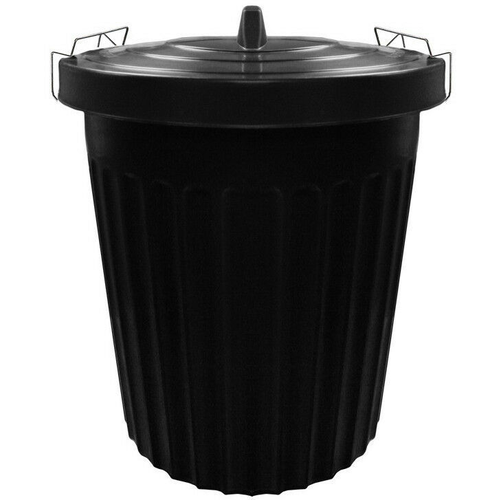 100 litre 100l extra large black plastic dustbin kitchen. Black Bedroom Furniture Sets. Home Design Ideas