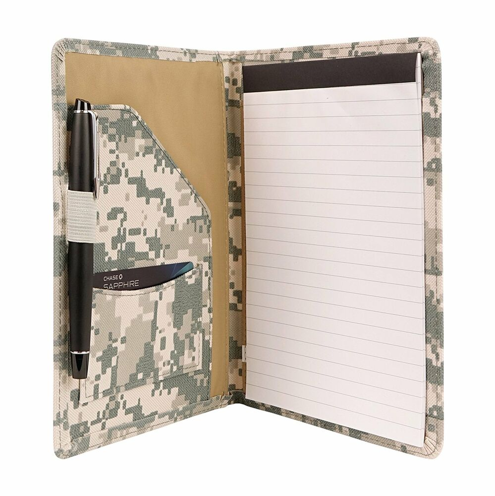 Digital Camouflage Padfolio with Writing Note Pad and Business Card ...