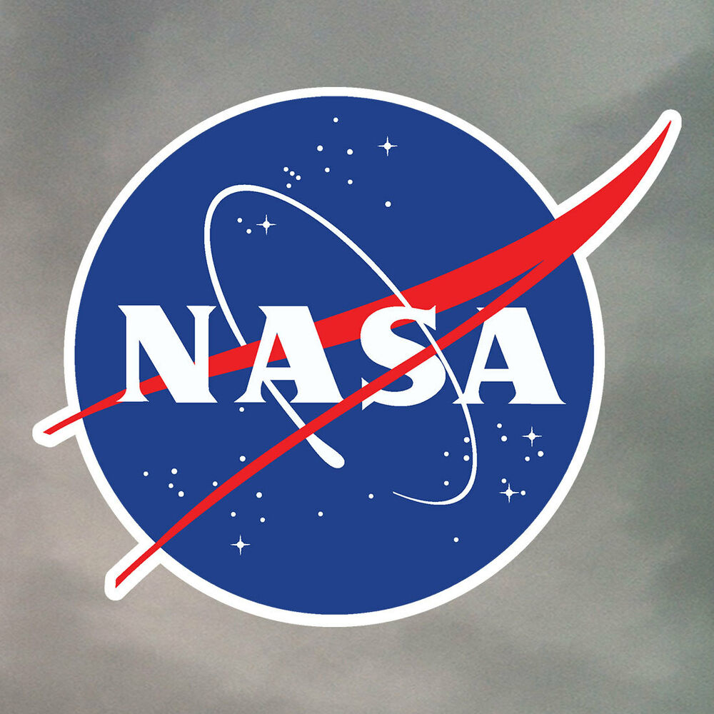 NASA Stickers  1 to 6 contour cut waterproof vinyl