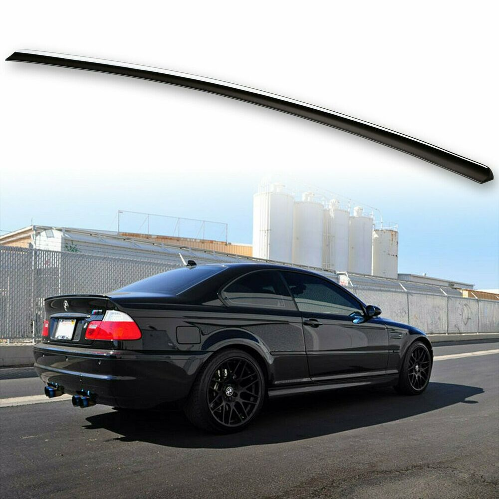 Bmw M3: * Painted For BMW E46 Trunk Lip Spoiler Sedan Coupe M3 Jet