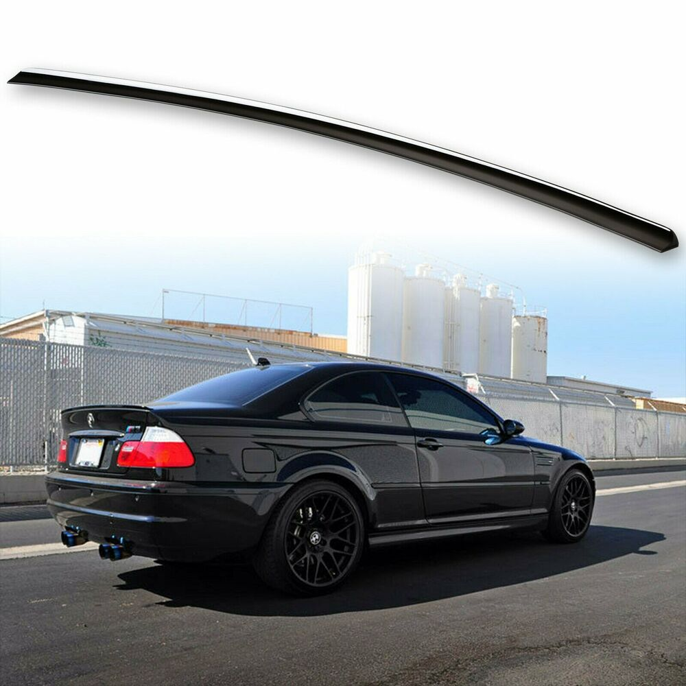 painted for bmw e46 trunk lip spoiler sedan coupe m3 jet. Black Bedroom Furniture Sets. Home Design Ideas