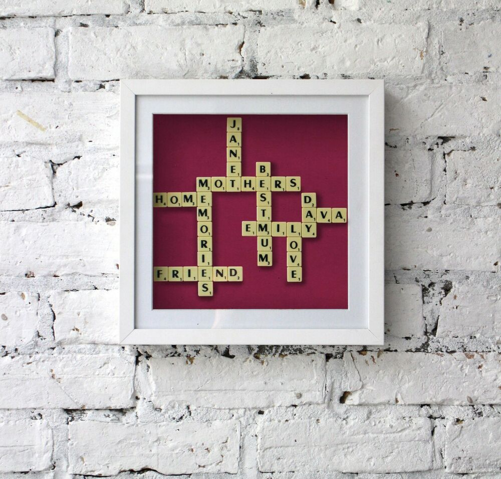 Frame Company Personalised Scrabble Art Handmade Wooden