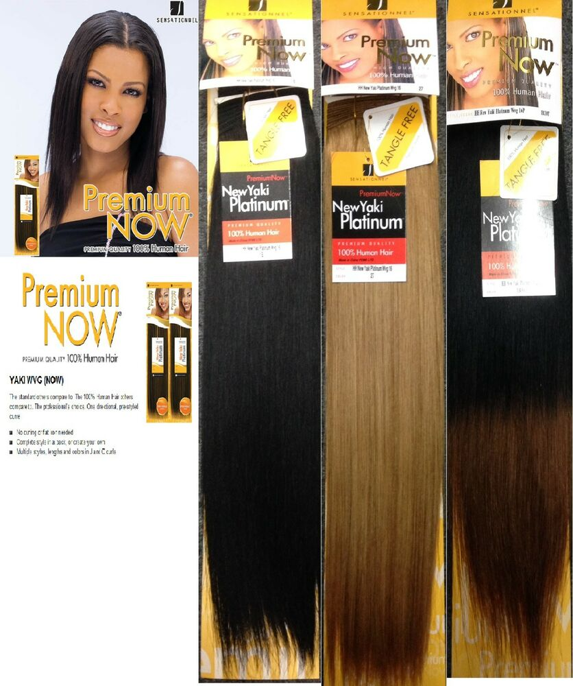 Sensationnel Premium Now 100 Human Hair New Yaki Platinum 93